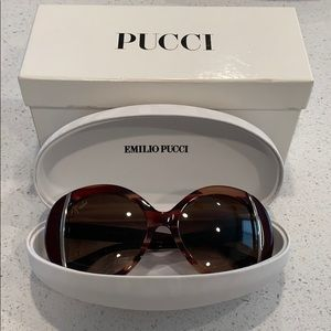 EMILIO PUCCI round sunglasses